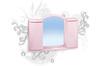Шкафчик зеркальный арго  (светло-голубой)