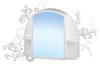 Шкафчик зеркальный орион  (светло-голубой)