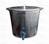 Бак оцинкованный для воды 15л с краном