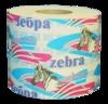 Бумага туалетная zebra люкс со втулкой