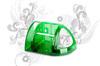 Полка для туалета (зеленый п/п)