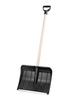 Лопата для снега люкс с черенком (черный)