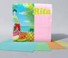 Салфетки бумажные однослойные окрашенные 230*230 50шт
