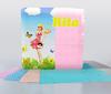 Салфетки бумажные 100шт 230*230 окрашеные, однослойные,тисненые