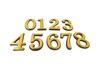Цифра большая №8 золото пластик