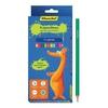 Карандаши цветные 12цв динозавры шестигранные