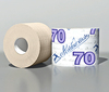 Бумага туалетная однослойная,тисненая на гильзе неокрашенная без