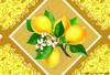 Клеенка столовая  на тканой(вискозной)основе  1,32м*25м  лимоны