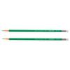 Карандаш ч/г пластиковый darvish корпус зеленый шестигранный