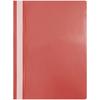 Папка-скоросшиватель пластик а4 красный с прозрачн верхом