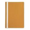 Папка-скоросшиватель пластик а4 оранжевый с прозрачн верхом