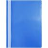 Папка-скоросшиватель пластик а4 синий с прозрачн верхом