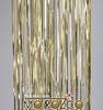 Мишура дождик золото , 1,5м  шир.100мм д101502  изгот.пк пластин