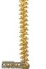 Мишура  кольца-1 золото 2м  м2102  изгот.пк пластиндустрия