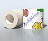Бумага туалетная 40м однослойная тисненая на гильзе, без перфора