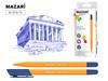 Ручка шариковая arcadia синяя на маслянной основе пулевид пишущи